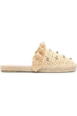 RED(V) Women Casual Shoes - Crystal-embellished woven espadrilles