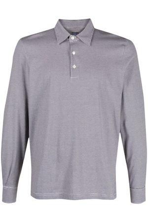 FEDELI Stripe print polo shirt