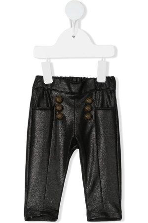 Balmain Baby Leggings - Metallic elasticated-waist trousers
