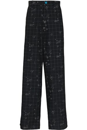 UNDERCOVER Men Trousers - Check-pattern loose-fit trousers