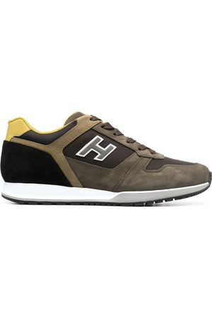 Hogan H321 suede-panel sneakers