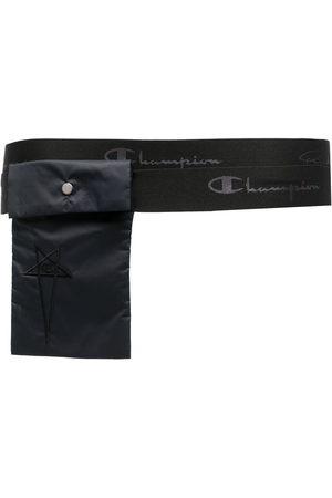 Rick Owens Men Belts - Embroidered-logo pocket belt