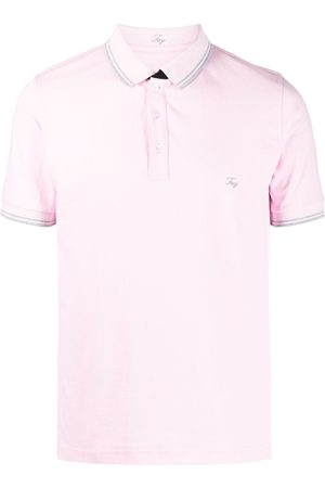 FAY Men Polo Shirts - Embroidered-logo stretch-cotton polo shirt