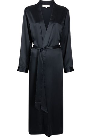 Michelle Mason Women Bathrobes - Silk side-slit robe