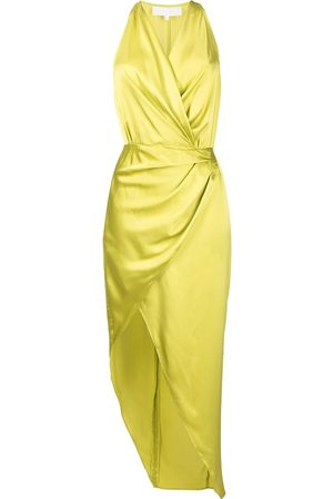 Michelle Mason Women Halterneck Dresses - Asymmetric halterneck silk dress