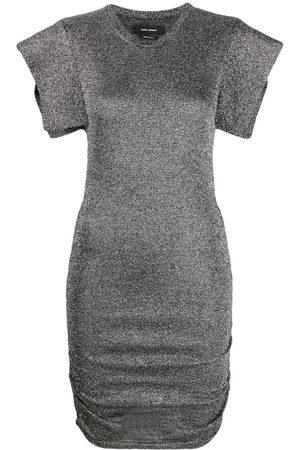 Isabel Marant Women Party Dresses - Marthe metallized dress