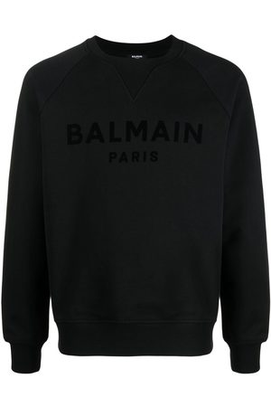 Balmain Men Sweatshirts - Logo-print cotton sweatshirt