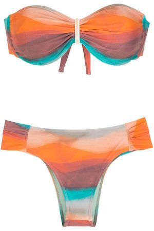 Brigitte Women Sets - Printed gradient effect bikini set