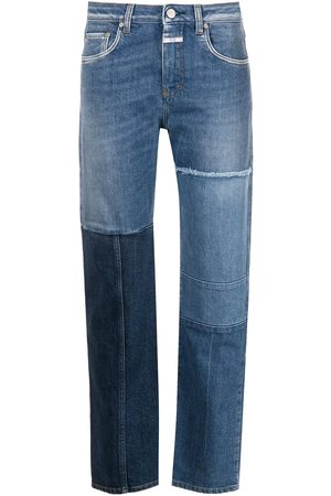 Closed Women Straight - Patchwork straight-leg jeans