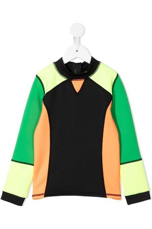 Stella McCartney Boys Tops - Colour-block panelled swim top