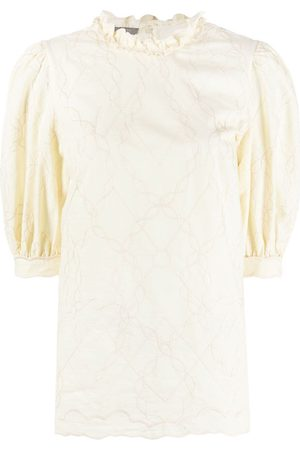Alberta Ferretti Women Shirts - Puff-sleeve blouse