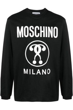 Moschino Men Long Sleeve - Double Question Mark T-shirt