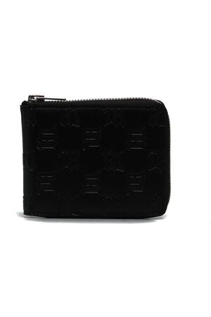MISBHV Wallets - Embossed-monogram leather wallet