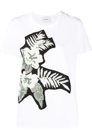 Barrie Floral-knit panel T-shirt
