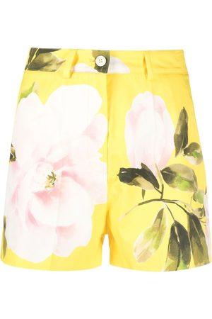 VALENTINO Women Shorts - Rose print tailored shorts