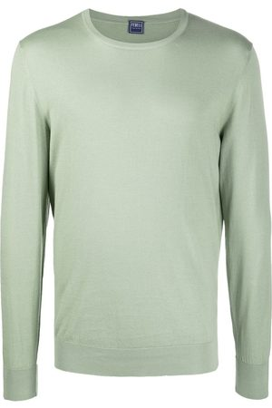 FEDELI Men Sweatshirts - Crew neck knitted sweatshirt
