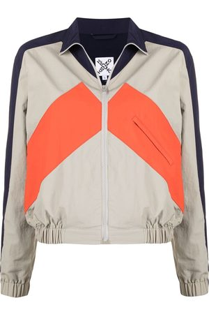 Kenzo Women Sports Jackets - Sport panelled windbreaker jacket