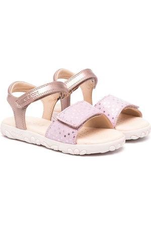 Geox Girls Sandals - Haiti metallic polka-dot sandals
