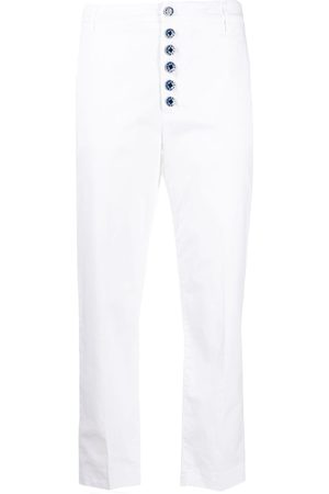 Dondup Women Trousers - Button-down straight-leg trousers