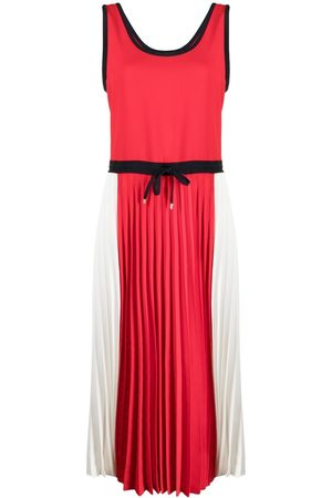 Tommy Hilfiger Pleated colour block dress