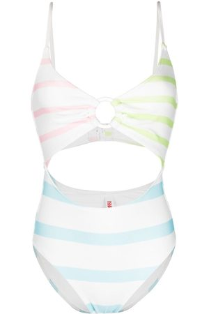 Solid Esme striped swimsuit