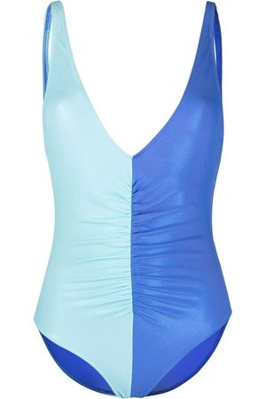 Solid Two-tone swimsuit