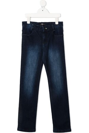 HUGO BOSS High-rise slim-leg jeans