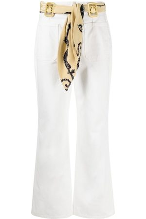 Lanvin Women Bootcut & Flares - Scarf-detail flared jeans