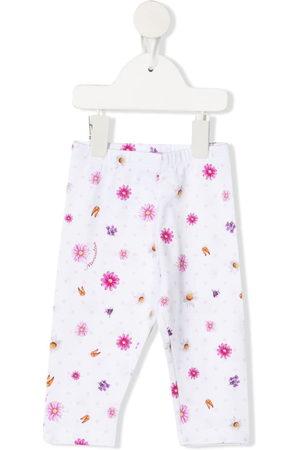 MONNALISA Floral-print cotton trousers