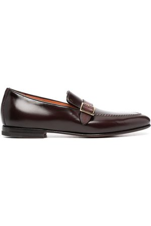 santoni Men Loafers - Buckle-strap leather loafers