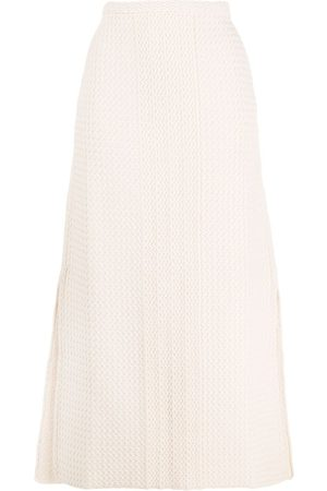Jil Sander Women Skirts - Zig-zag knit A-line skirt
