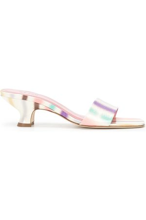By Far Women Platform Sandals - Freddy stripe-print sandals
