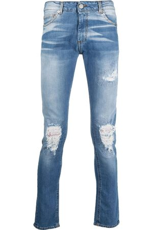 Family First Men Skinny - Distressed light wash jeans