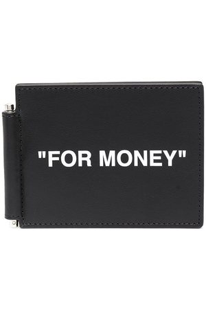 OFF-WHITE For Money-print bill clip wallet