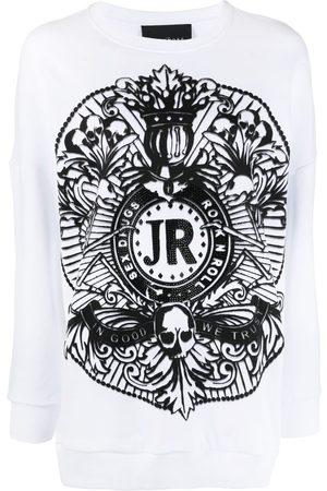 John Richmond Women Sweatshirts - Graphic-print cotton sweatshirt