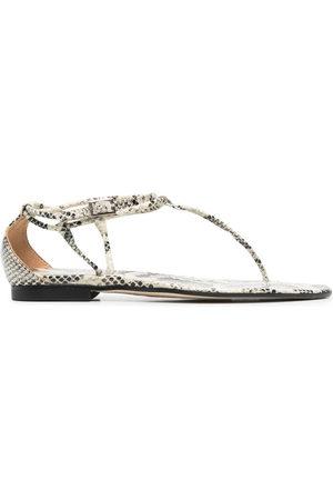 PARIS TEXAS Snakeskin-effect sandals