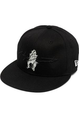 YOHJI YAMAMOTO Men Hats - Signature logo-print baseball cap