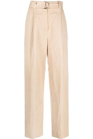 Msgm Women Trousers - Belted straight-leg trousers