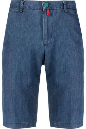 Kiton Men Shorts - Tailored denim shorts