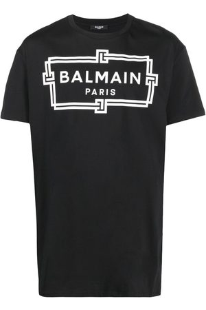Balmain Men Short Sleeve - Logo-print oversized T-shirt