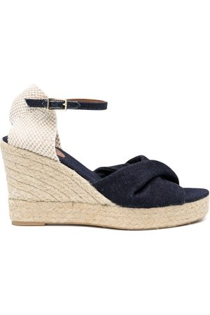 L'Autre Chose Women Casual Shoes - Cross strap wedged espadrilles
