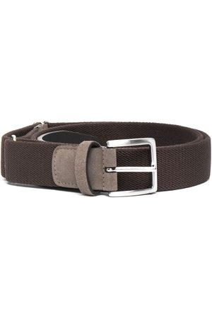 DELL'OGLIO Men Belts - Contrast-panel belt