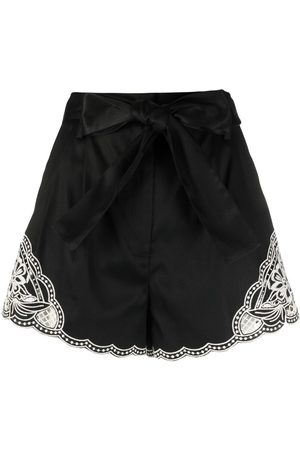 Twin-Set Women Shorts - Embroidered-detail shorts