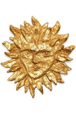 Yves Saint Laurent Women Pins - 1990s sun face brooch