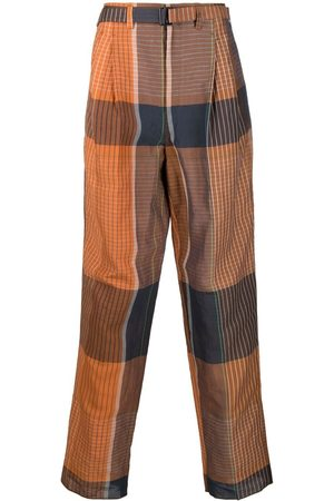 LEMAIRE Checked wide-leg trousers