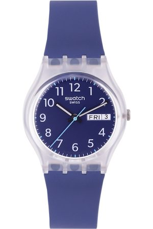 Swatch Unisex Blue Shock-Resistant Analogue Watch GE725