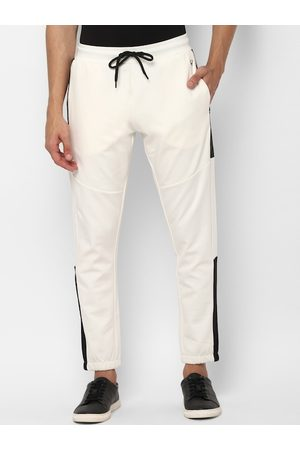 Allen Solly Tribe Men White Solid Straight-Fit Joggers