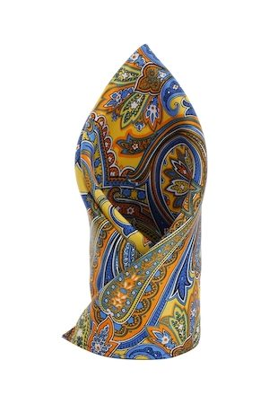 Alvaro Castagnino Multicoloured Floral Print Pocket Square
