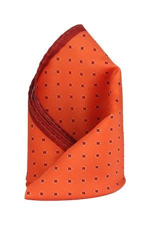 Alvaro Castagnino Orange Printed Pocket Square
