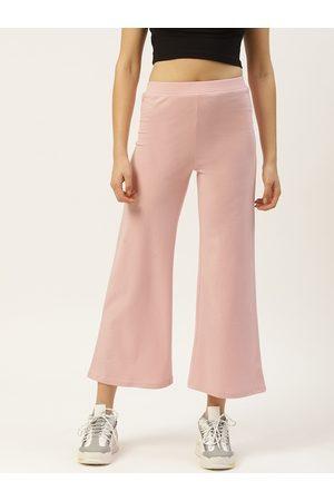 Laabha Women Pink Solid Track Pants